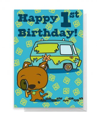 Scooby Doo 1st Birthday Greetings Card - Large Card chez Casa Décoration