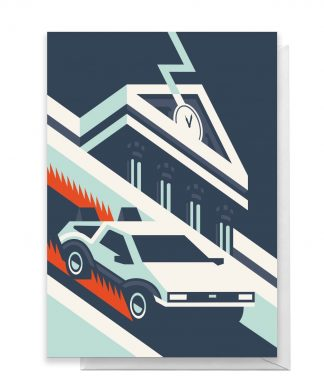 Back To The Future Greetings Card - Large Card chez Casa Décoration