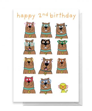 Scooby Doo 2nd Birthday Greetings Card - Standard Card chez Casa Décoration