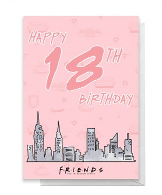 Friends Birthday 18th Greetings Card - Large Card chez Casa Décoration
