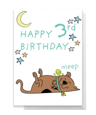 Scooby Doo 3rd Birthday Greetings Card - Giant Card chez Casa Décoration