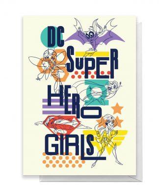 DC Super Hero Girls Greetings Card - Large Card chez Casa Décoration
