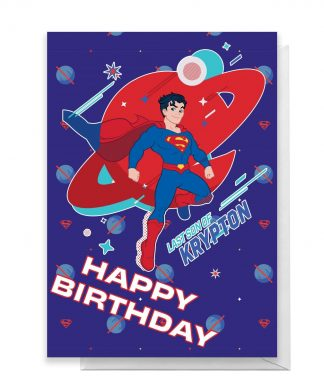 Superman Krypton Happy Birthday Greetings Card - Giant Card chez Casa Décoration