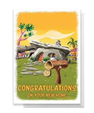 Flintstones New Home Greetings Card - Standard Card chez Casa Décoration