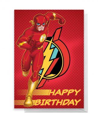The Flash Happy Birthday Greetings Card - Standard Card chez Casa Décoration