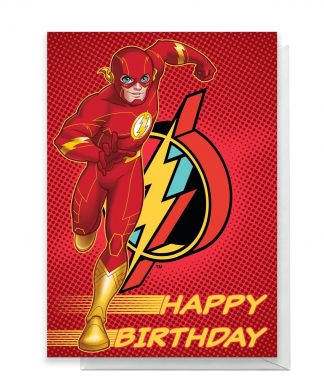 The Flash Happy Birthday Greetings Card - Large Card chez Casa Décoration