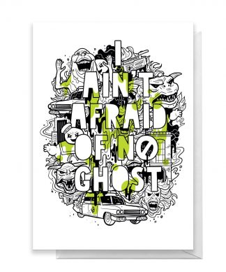 Ghostbusters I Ain't Afraid Of No Ghost Greetings Card - Standard Card chez Casa Décoration