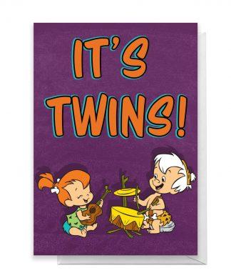 Flintstones It's Twins Greetings Card - Large Card chez Casa Décoration