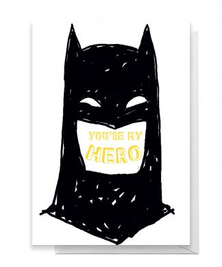 Batman You're My Hero Greetings Card - Large Card chez Casa Décoration