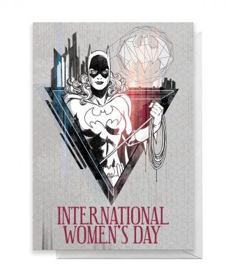 BatGirl International Women's Day Greetings Card - Standard Card chez Casa Décoration