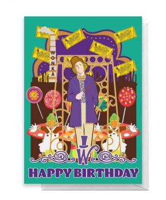 Willy Wonka Birthday Greetings Card - Standard Card chez Casa Décoration