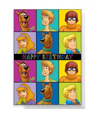 Scooby Doo Gang Happy Birthday Greetings Card - Large Card chez Casa Décoration
