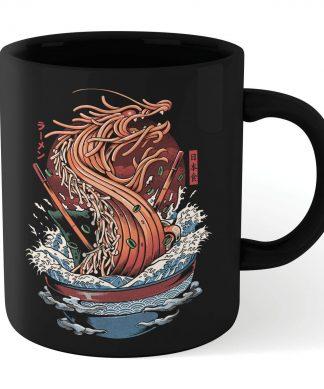 Ilustrata Dragon Ramen Mug - Black chez Casa Décoration