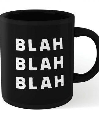 The Motivated Type Blah Blah Blah Mug - Black chez Casa Décoration