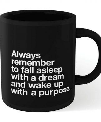 The Motivated Type Fall Asleep With A Dream Mug - Black chez Casa Décoration