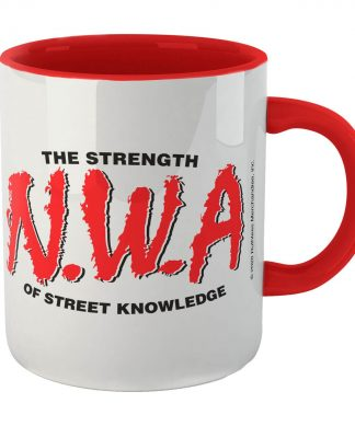 Tasse The Strength Of Street Knowledge - Blanc/Rouge chez Casa Décoration