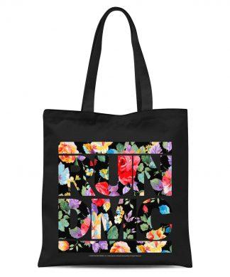 Tote Bag Floral RUN DMC - Noir chez Casa Décoration