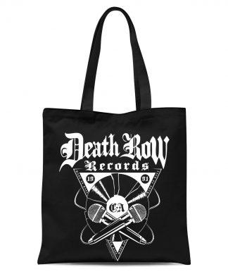 Tote Bag Death Row Records Plaque - Noir chez Casa Décoration