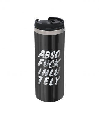 The Motivated Type Absofuckinlutely Stainless Steel Thermo Travel Mug - Metallic Finish chez Casa Décoration