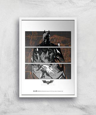 Batman Begins Poster Giclee Art Print - A2 - White Frame chez Casa Décoration