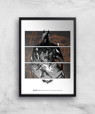 Batman Begins Poster Giclee Art Print - A2 - Black Frame chez Casa Décoration