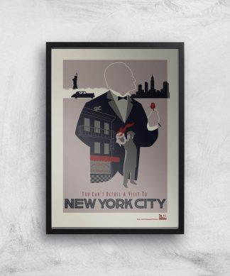 Poster Fine Art The Godfather Visit New York - A2 - Black Frame chez Casa Décoration