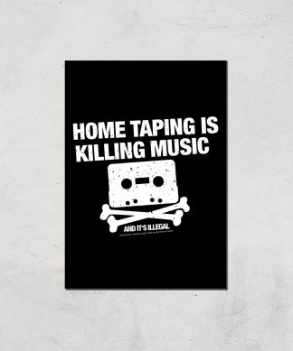Home Taping Is Killing Music Giclee Art Print - A4 - Print Only chez Casa Décoration
