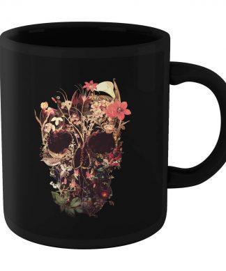 Ikiiki Bloom Skull Mug - Black chez Casa Décoration