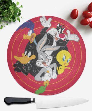 Planche à découper Ronde Looney Tunes chez Casa Décoration