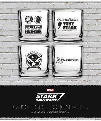 Marvel Iron Man Stark Industries Glass Set 4 pack Set 2 chez Casa Décoration