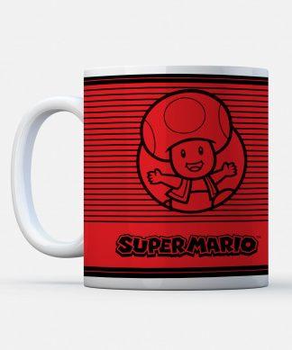 Nintendo Super Mario Toad Retro Line Art Colour Mug chez Casa Décoration