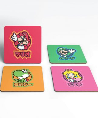 Nintendo Super Mario Good Guys Kanji Coaster Set chez Casa Décoration
