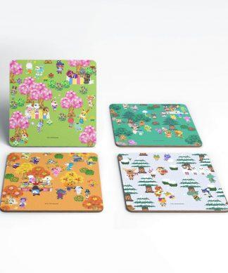 Nintendo Animal Crossing Seasonal Coaster Set chez Casa Décoration