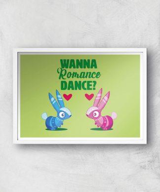 Viva Pinata Wanna Romance Dance Rabbit Art Print Giclee Art Print - A4 - White Frame chez Casa Décoration