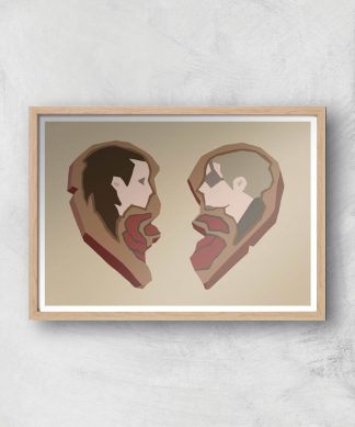 Sea Of Thieves Valentines Heart Art Print Giclee Art Print - A3 - Wooden Frame chez Casa Décoration