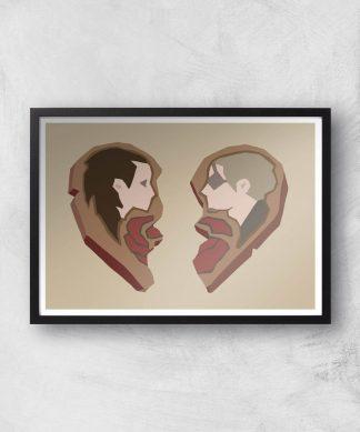 Sea Of Thieves Valentines Heart Art Print Giclee Art Print - A2 - Black Frame chez Casa Décoration