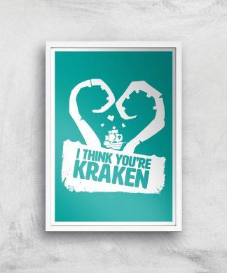 Sea Of Thieves I Think You're Kraken Print Giclee Art Print - A2 - White Frame chez Casa Décoration