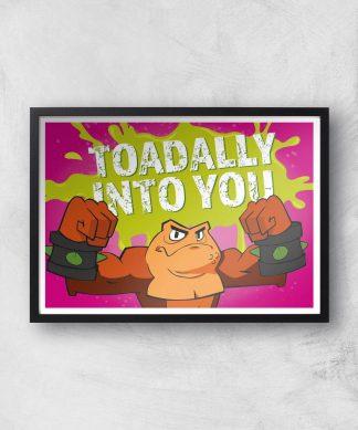 Battletoads Toadally Into You Art Print Giclee Art Print - A4 - Black Frame chez Casa Décoration