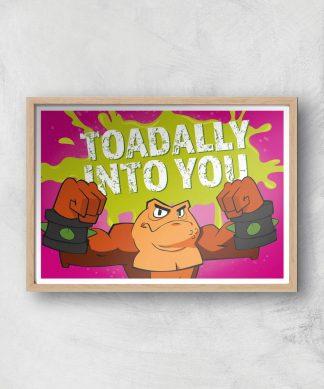 Battletoads Toadally Into You Art Print Giclee Art Print - A2 - Wooden Frame chez Casa Décoration