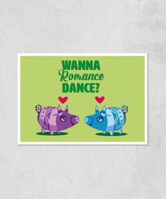 Viva Pinata Wanna Romance Dance Pig Art Print Giclee Art Print - A4 - Print Only chez Casa Décoration