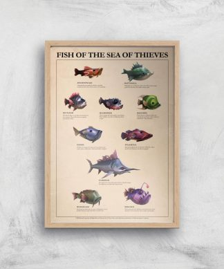 Fish Of The Sea Of Thieves Giclee Art Print - A4 - Wooden Frame chez Casa Décoration