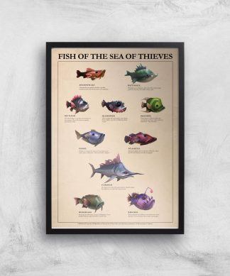 Fish Of The Sea Of Thieves Giclee Art Print - A3 - Black Frame chez Casa Décoration