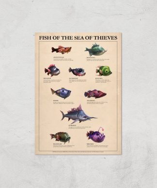 Fish Of The Sea Of Thieves Giclee Art Print - A2 - Print Only chez Casa Décoration