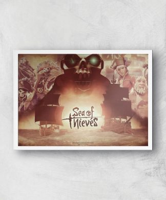 Sea Of Thieves 2nd Anniversary Giclee Art Print - A4 - White Frame chez Casa Décoration