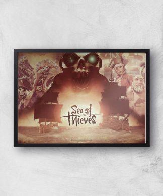 Sea Of Thieves 2nd Anniversary Giclee Art Print - A4 - Black Frame chez Casa Décoration