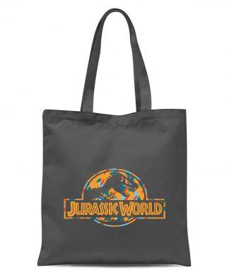 Jurassic Park Logo Tropical Tote Bag - Grey chez Casa Décoration
