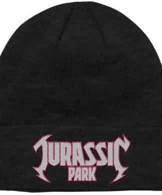 Bonnet Jurassic Park Metal Theme Logo Brodé chez Casa Décoration
