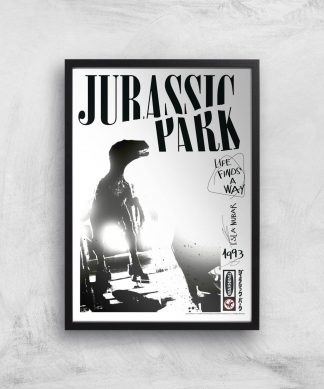 Poster Fine Art Jurassic Park Life Finds A Way - A3 - Black Frame chez Casa Décoration
