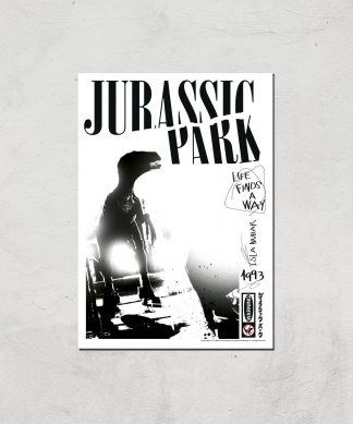 Poster Fine Art Jurassic Park Life Finds A Way - A2 - Print Only chez Casa Décoration