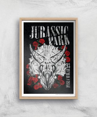 Poster Fine Art Jurassic Park Isla Nublar 93 - A4 - Wooden Frame chez Casa Décoration